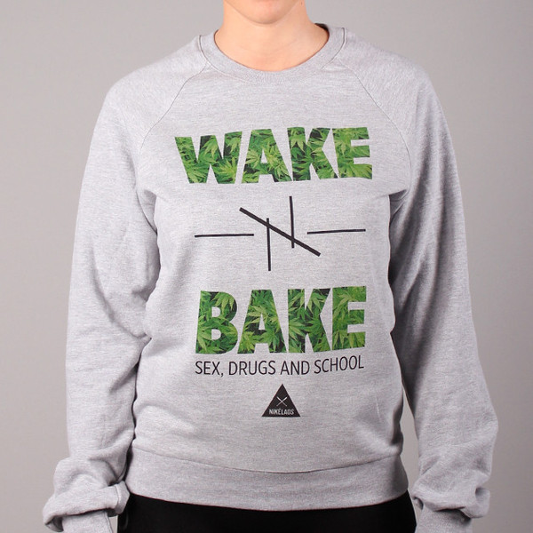 NIKELAOS - Crewneck Wake-N-Bake Heather Gray -
